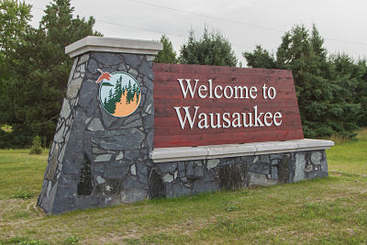 Village of Wausaukee Welcome sign constructed 2017