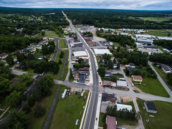 Village of Wausaukee - north aerial view 2017